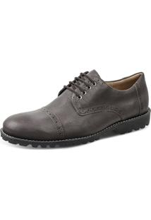 Sapato Social Derby Sandro Moscoloni Markison Marrom Escuro