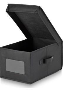 Caixa Organizadora Preto 24X36X19Cm - 30447
