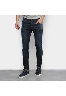 Calça Jeans Ecxo Masculino-2010 - Masculino-Azul Escuro