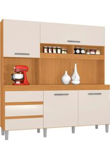 Cozinha Compacta Florença 4 Pt 3 Gv Cedro E Champanhe