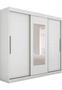 Guarda-Roupa Casal Com Espelho Valsa 3 Pt Branco