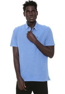 Camisa Polo Hang Loose Reta Carmel Azul