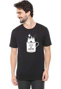 Camiseta Masculina Eco Canyon Let'S Go Preto