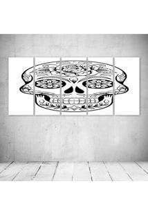 Quadro Decorativo - Skull460 - Composto De 5 Quadros - Multicolorido - Dafiti