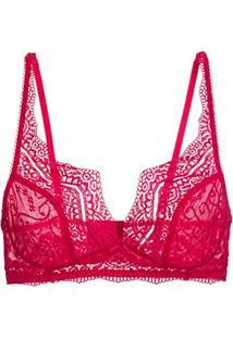 Amazon. Sutiã Loungerie Top Renda Love Lace Vermelho d295eac0d06