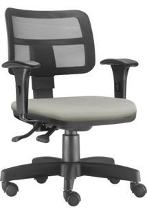 Cadeira Giratã³Ria Executiva Lyam Decor Zip Suede Bege - Bege - Dafiti