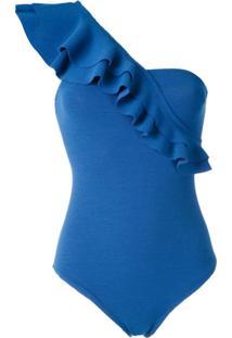 Clube Bossa Maiô Siola Com Babados - Azul