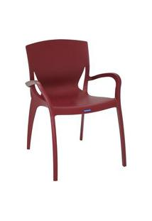 Cadeira Plástica Tramontina 92040050 Clarice Summa Com Braços Marsala