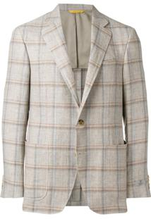 Canali Check Suit Jacket - Neutro