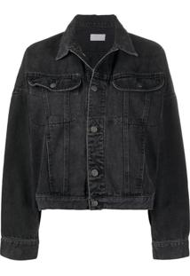 Boyish Denim Ryder Oversized Denim Jacket - Preto