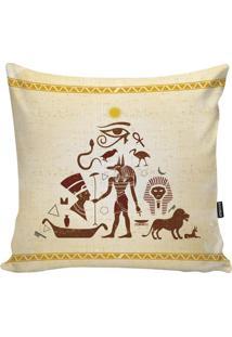 Capa De Almofada Egypt- Marrom & Amarelo Claro- 45X4Stm Home
