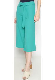 Calça Pantalona Lisa - Verde- Operateoperate
