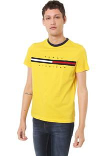 Camiseta Tommy Hilfiger Bordada Amarela