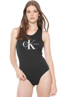 Body Calvin Klein Jeans Logo Preta