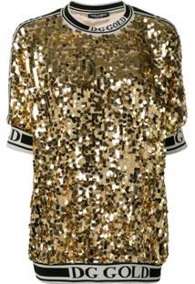 Dolce & Gabbana Camiseta Com Logo - Dourado