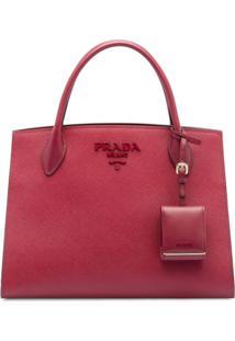 Prada Bolsa Shopping Monochrome - Rosa