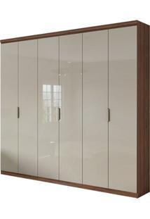 Guarda Roupa Alonzo Plus 6 Portas Imbuia Naturale/Off White