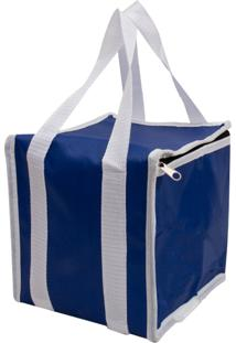 Bolsa Térmica 7,2 Litros Guepardo Easy Pack M Azul E Branco