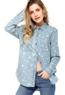 Camisa Manga Longa Vans Celebrity Woven Azul/Branca
