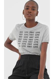 Blusa Dzarm Self Love First Cinza