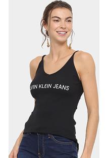 Regata Canelada Calvin Klein Feminina - Feminino