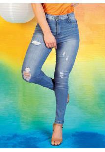 Calça Jeans Claro Hot Pants Destroyed Sawary