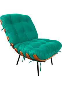 Poltrona Costela Suede Verde - D'Rossi