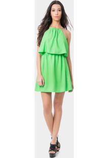 Vestido Com Alças Sobreposto Verde - Lez A Lez