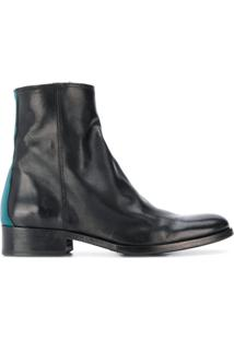Paul Smith Zip-Up Ankle Boots - Preto