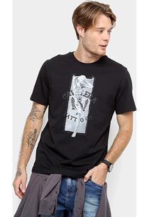 Camiseta Cavalera Estampa Monroe Tattoo Masculina - Masculino