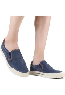 Sapatênis Democrata Blow Slip On Jeans Azul