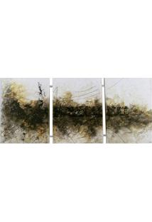 Quadro Artesanal Com Textura Abstrato I Colorido 70X126 (3 X 40X60)Cm Uniart