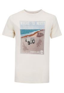 Camiseta Timberland Where To Next - Masculina - Bege