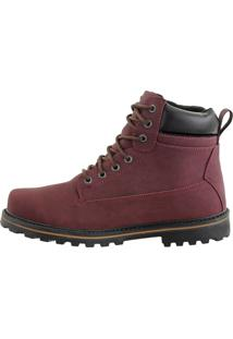 Bota Coturno Crshoes Bordô