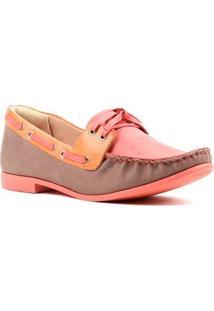Sapato Mocassim Feminino Ramarim Coral