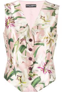 Dolce & Gabbana Colete Com Estampa 'Lily' - Rosa