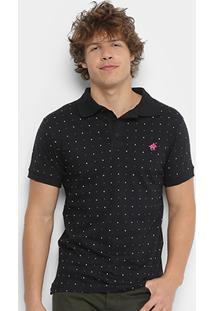 Camisa Polo Up Poás Masculina - Masculino-Preto