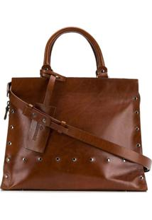 A.F.Vandevorst Studded Shoulder Bag - Marrom