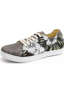Sapatênis Casual Shoes Grand Estampado Cinza