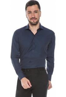 Camisa Raphy Azul Maquinetada - Masculino
