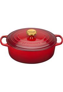 Panela De Ferro Oval Le Creuset Golden Knob Vermelho 31Cm - 24089