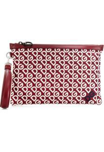Dolce & Gabbana Dg Mania Print Clutch - Vermelho