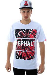Camiseta Asphalt Swirl Tie Masculina - Masculino-Branco
