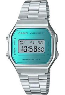 9ff8ba61d6b ... Relógio Casio Unisex Vintage - Feminino-Prata