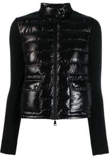 Moncler Panelled Padded Jacket - Preto