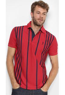 Camisa Polo Aleatory Listrada Vertical Masculina - Masculino