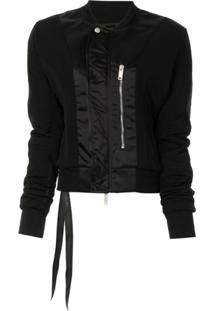 Unravel Project Zip-Front Bomber Jacket - Preto