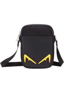Fendi Bolsa Transversal Bag Bugs Pequena - Preto