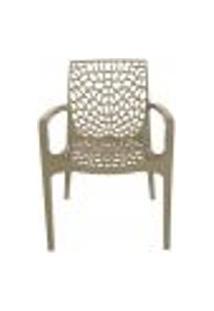Cadeira Gruvyer C/Braços Cozinha 44X45,5X89,5Cm Marrom Fendi