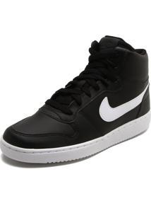 Tênis Couro Nike Sportswear Ebernon Mid Preto